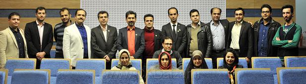 برخی از اعضای هیات علمی و تیم اجرایی کدافزار