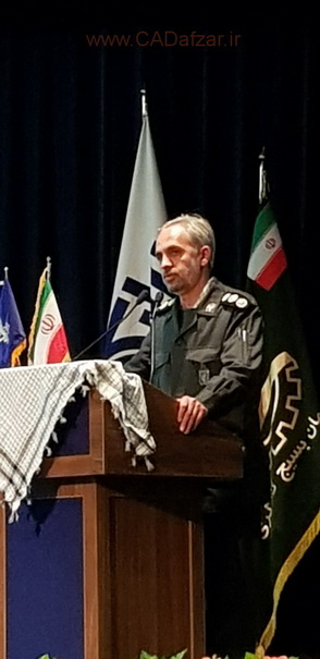 سرهنگ پاسدار وحید تیموری -فرمانده بسیج كارگری تهران بزرگ- جشنواره صد