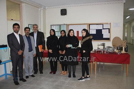 عکس یادگاری در کنار مسئولین دانشکده فنی دختران تهران